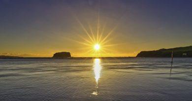 La salida del Sol captada desde Nueva Gales del Sur, Australia
