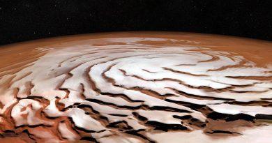 Desvelado el misterio de los gélidos cañones de Marte con forma espiral