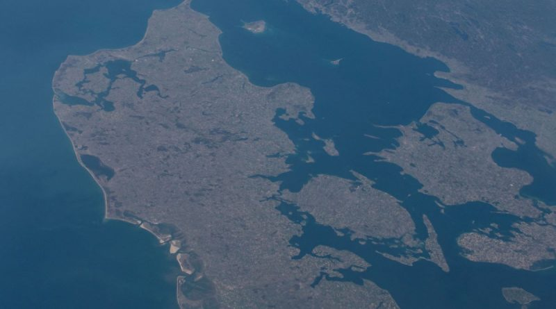 Imagen de Dinamarca tomada desde la Estación Espacial Internacional