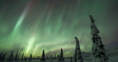Auroras boreales fotografiadas desde el sur de Alaska