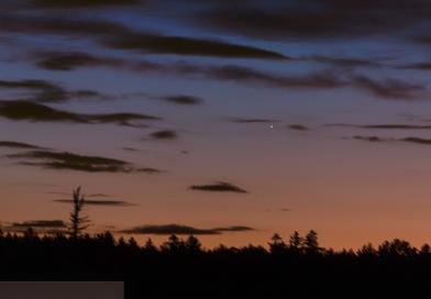 Foto de Mercurio tomada al atardecer del 17 de mayo