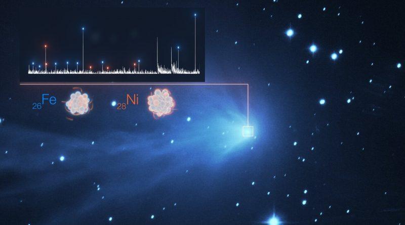 Hallazgo inesperado de vapores de metales pesados en cometas del Sistema Solar