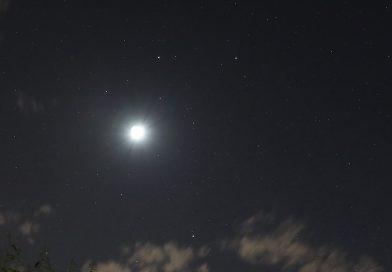 Fotos de la Luna, Pólux, Cástor y Marte tomadas desde Arenys de Munt