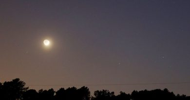 Fotos de la Luna, Marte, Pólux y Cástor tomadas desde Arenys de Munt