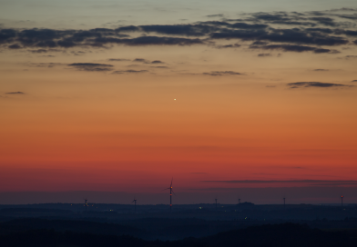 Foto de Venus tomada al atardecer en Sajonia, Alemania