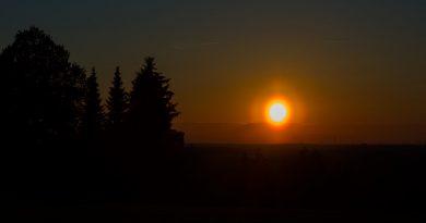 La puesta de Sol fotografiada desde Sajonia, Alemania