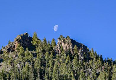 La Luna fotografiada desde Idaho, Estados Unidos