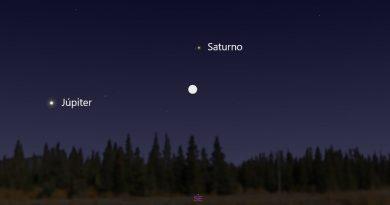 La conjunción de la Luna y Saturno será visible esta noche