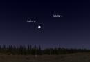 Esta noche se podrá observar la conjunción de la Luna y Júpiter