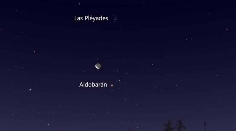 La conjunción de la Luna y la estrella Aldebarán será visible antes del amanecer del 3 de agosto